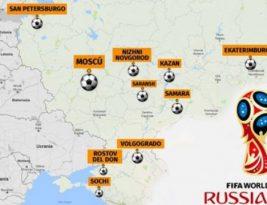 Sedes del Mundial de Fútbol en Rusia